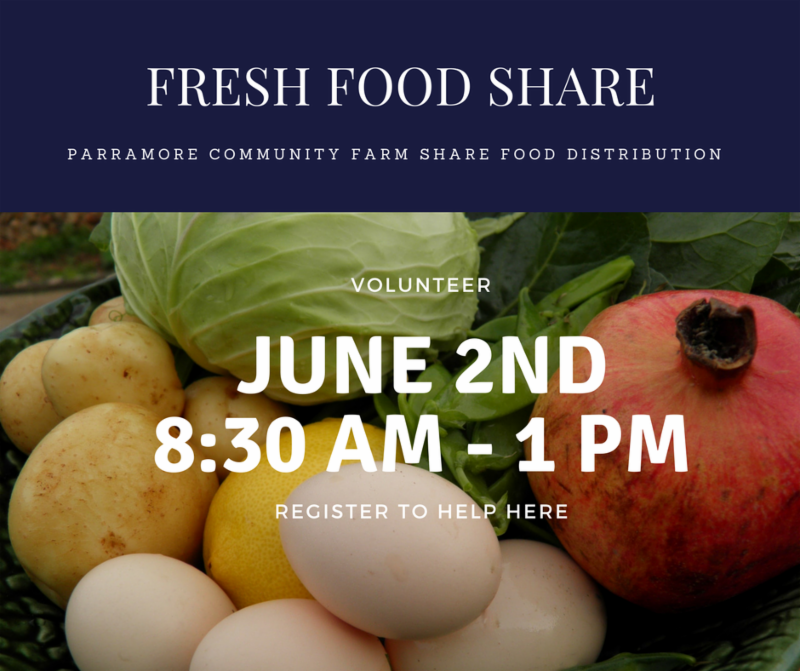 Parramore Community Farm Share Food Distribution – Volunteer Sign-up