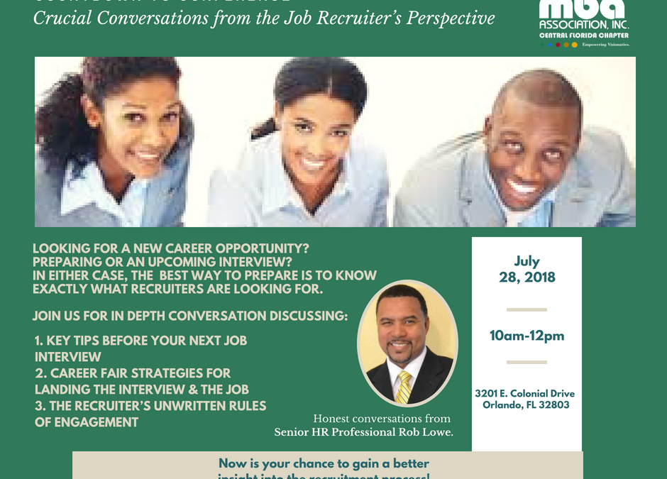 Countdown to Conference | Crucial Conversations from the Job Recruiter's Perspective