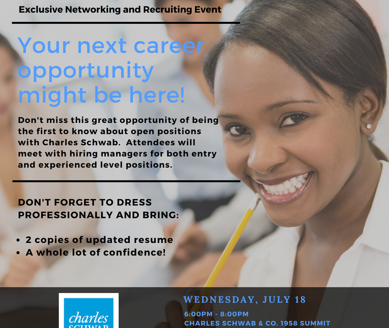 DISCOVER CHARLES SCHWAB: Exclusive Networking and Recruiting Event
