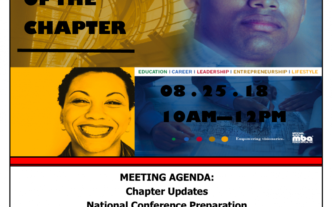 Quarterly State of the Chapter Meeting